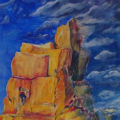 """""""Unwetter"""" Acryl auf Leinwand 100 x 80 cm"""