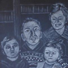 """""""Der Beginn"""" 40 cm x 40 cm Acryl auf Leinwand"""