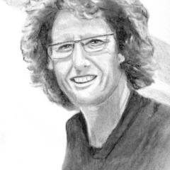 """""""Porträt"""" 24 x32 cm Graphit und Kohle"""