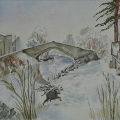"""Winterbrücke"" Aquarell, 20 x 30 cm"