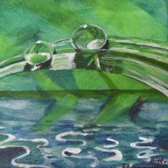 """Wassertropfen"" Acryl auf Leinwand 20 x 20 cm"